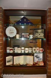 Display Case in Minnie's Display Room with Artifacts from Original Station